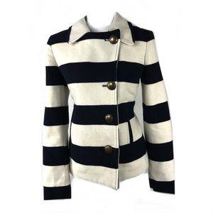 Jack by BB DOKATA jacket pea coat striped wool S